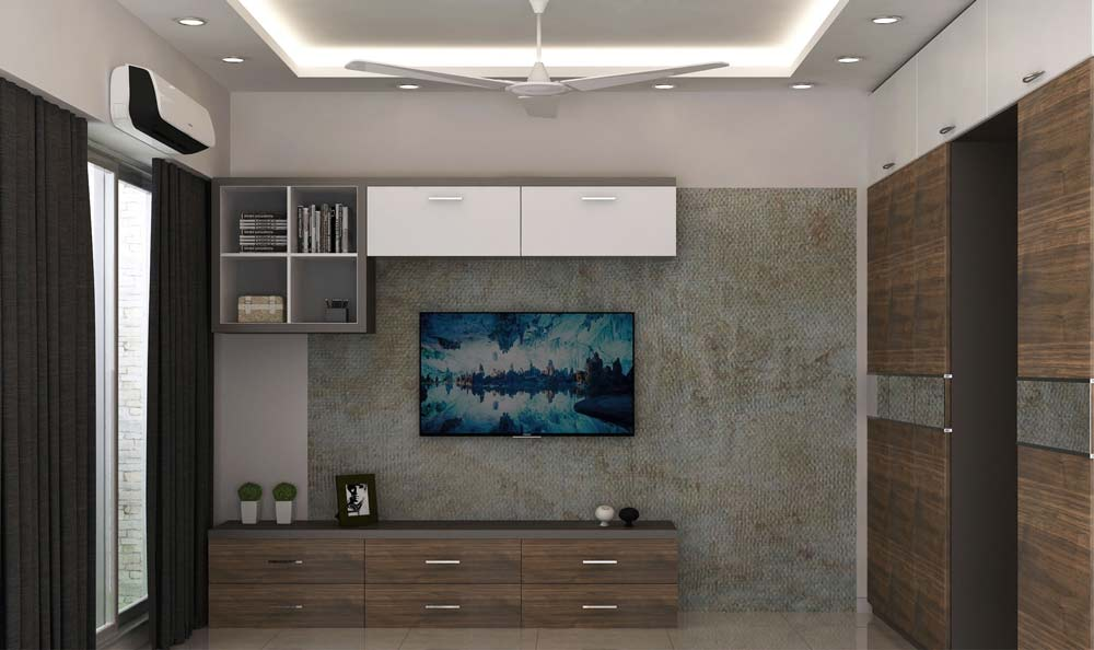 tv unit interior design in bandra