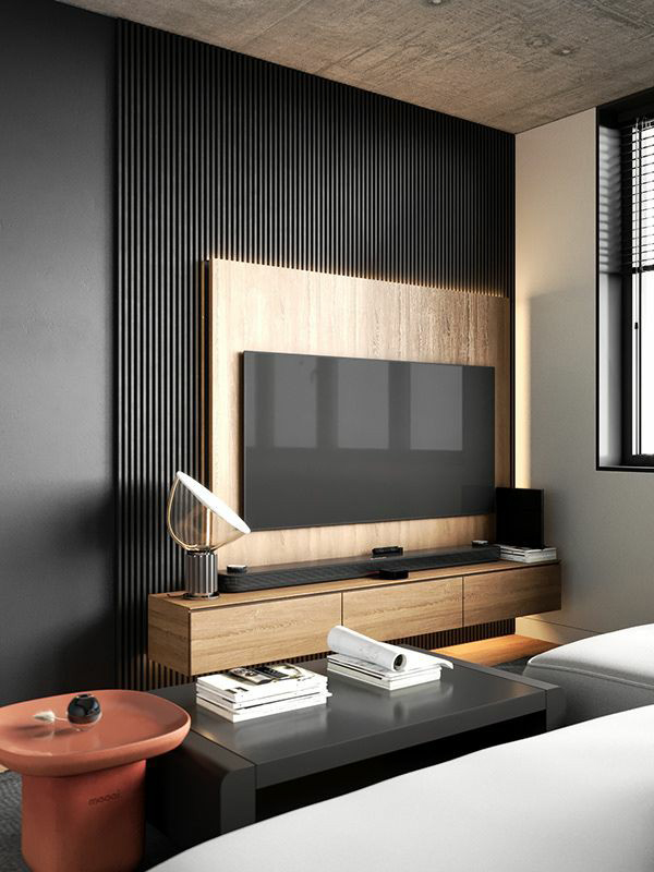 tv unit interior design in mira road